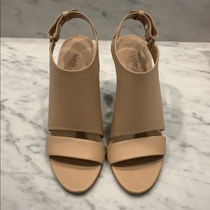 "Vince ""Karen"" nude wedge sandals, size 6"